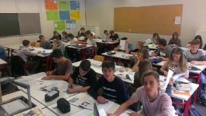 Arbeit am Berufswahlkatalog in Klasse 9