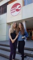 Schulsprecherin Jana Maier und ihre Stellvertreterin Aylin Ocak (SJ 16/17)